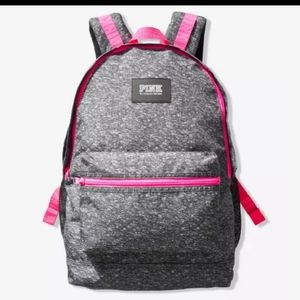 NEW PINK VS CAMPUS BACKPACK HEATHER ANTHRACITE